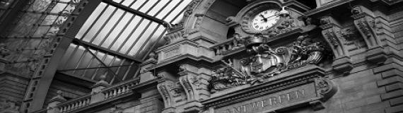 El reloj de la estación de Amberes